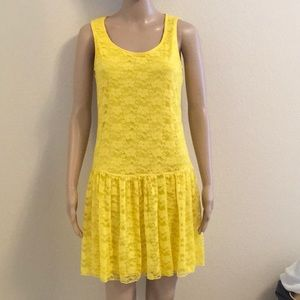 NWOT drop-waist lace dress size M